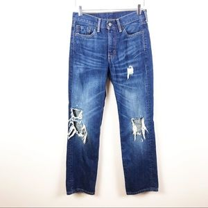 LEVI'S | Straight Leg Distressed Jeans